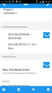 Reports Sheet Reporting combined expenses and business trips explained